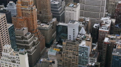 Rooftops and skyscraper in Manhattan New York - stock footage