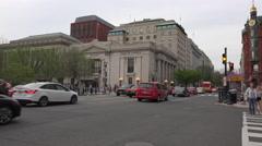 Washington DC bus urban street travel 4K Stock Footage
