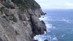 Sea liguria Italy Stock Footage