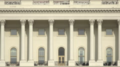 Washington DC Capitol Building construction zoom out 4K 053 Stock Footage