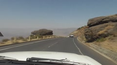 Driving Through Ethiopia - East Africa Stock Footage