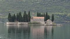 St. George island in Perast Montenegro Stock Footage