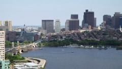 Skyline of the city of Boston, USA Stock Footage
