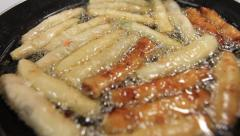 Frying Spring Roles on GUAM, USA- CIRCA February, 2011 Stock Footage