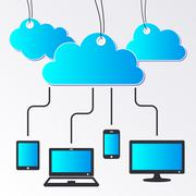 Cloud computing concept Stock Illustration