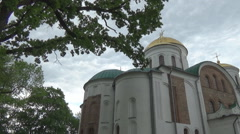 12th century Orthodox Cathedral Stock Footage