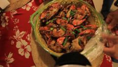 Filipino Lunch on GUAM, USA- CIRCA February, 2011 Stock Footage