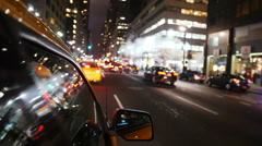 Yellow cabs driving in Manhattan Stock Footage