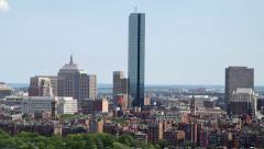 Skyline of Boston, Massachusetts USA Stock Footage