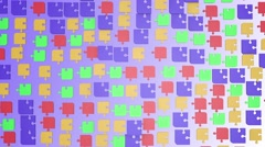 Abstract puzzle pieces in various colors Stock Footage