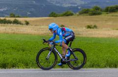 The Cyclist Andrew Talansky - Tour de France 2013 - stock photo