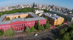 National University in Kiev, aerial view Stock Footage