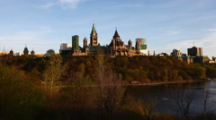 4K UltraHD A timelapse view of Canada's Parliament on a hill Stock Footage