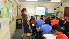 Teacher with Students on GUAM, USA- CIRCA February, 2011 Stock Footage