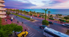 Alanya town. Turkey. Traffic on street. 4k UHD timelapse. Stock Footage