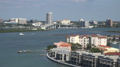 Aerial View Of Intercoastal Water Way And Clearwater Florida Stock Footage