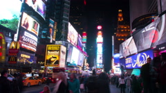 Timelapse video of Times Square in Manhattan Stock Footage