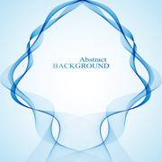 Abstract curved lines on black background. Vector illustration - stock illustration