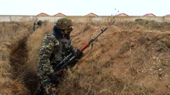 Sniper on the position Stock Footage