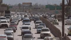 Traffic Jam on the Highway Stock Footage