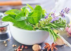 Herb and aroma spice Stock Photos