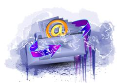 to send a letter - stock illustration