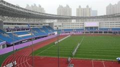 Blank Stadium in city in Shanghai Stock Footage