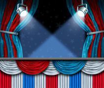 Election Background - stock illustration