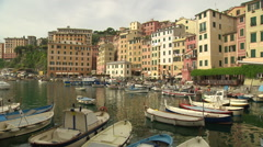 ITALY - Camogli traditional town and port Stock Footage