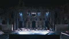 Timelapse Greek ancient theatre of Herodion live outdoor performance Stock Footage