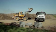 Sequence from 12 videos. Roadworks. Excavator. Surveyor. Dredger. Bulldozer. - stock footage