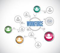 Workforce network sign concept Stock Illustration