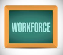 Workforce board sign concept Stock Illustration
