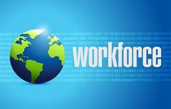Workforce international sign concept Stock Illustration