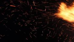 Huge sparks of fire Stock Footage