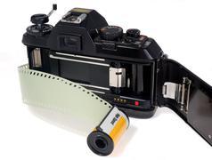 35mm Film Camera - stock photo