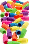 Pencil Erasers Stock Photos
