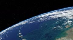 Orbital flyover of the Western Gulf of Alaska  Stock Footage