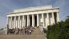 Washington DC Lincoln Memorial front steps tourism 4K 004 Stock Footage