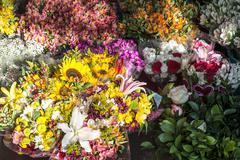 Street Flowers Market - stock photo