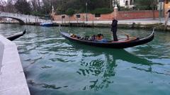 4k romantic couple enjoy gondola ride Stock Footage
