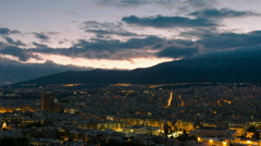 Timelapse Athens city skyline overview sunrise dawn Stock Footage