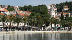 Old town in Cavtat Croatia Stock Footage