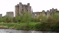 Trim Castle, Ireland - close view - stock footage