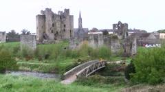 Trim Castle, Ireland - stock footage