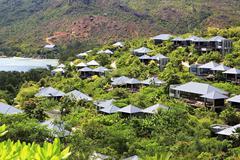 Hotel Raffles Praslin Seychelles Stock Photos