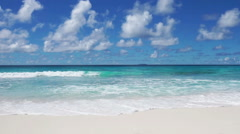 Sky clouds and tropical sea Stock Footage