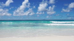sky clouds and tropical sea - stock footage