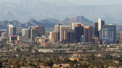 Phoenix Skyscrapers Zoom In - stock footage