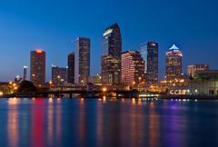 Downtown Tampa Skyline Kuvituskuvat